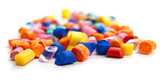 plastic chunks