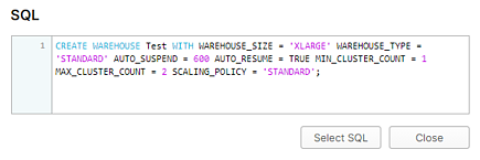 SQL-Ready Scaling Policy