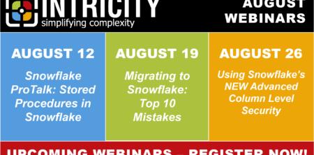 August Webinars – All Focused on Snowflake