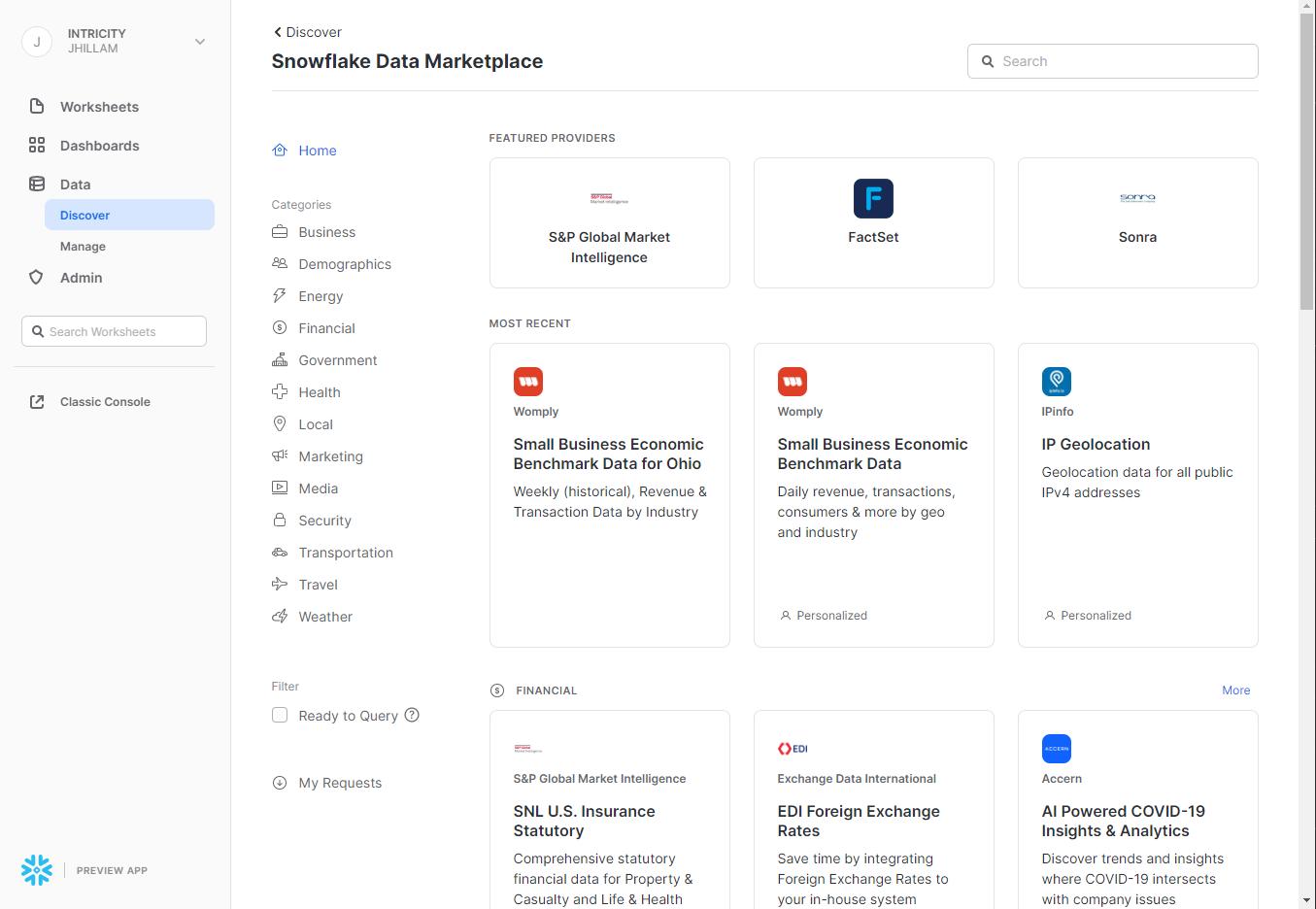 Data Marketplace